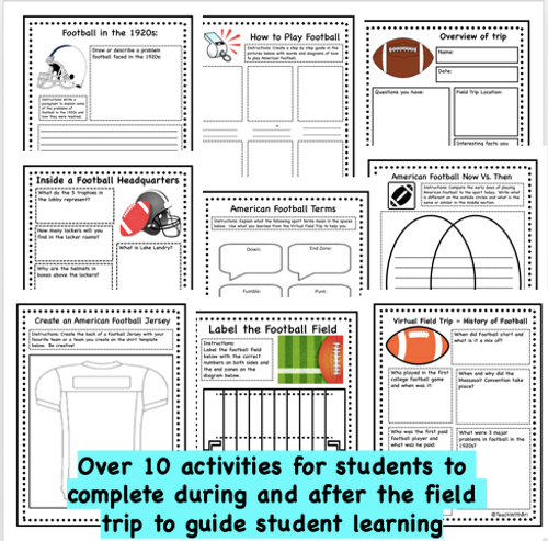 Digital Version - Virtual Field Trip American Football-  History and About the Game- Distance PE Lesson