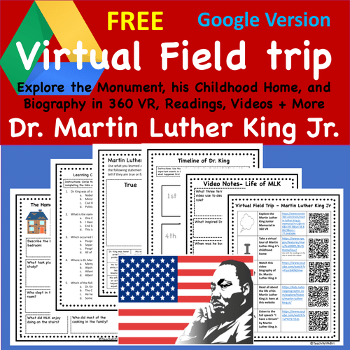 FREE Digital Version - Martin Luther King Jr. Monument Virtual Field Trip