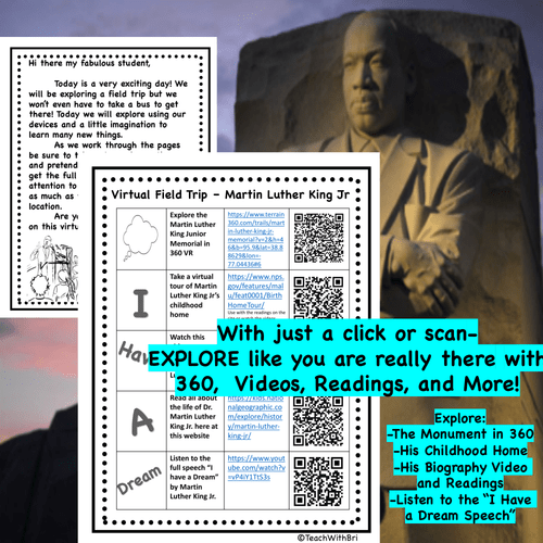 FREE Martin Luther King Jr. Monument Virtual Field Trip - PDF Version