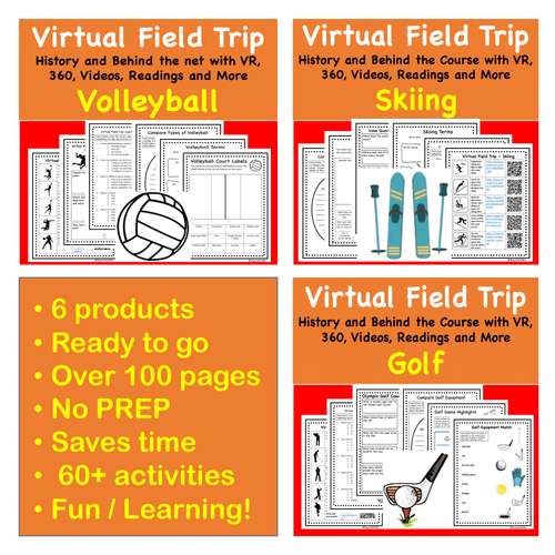 Discount Bundle- Virtual Field Trip - Favorite Sports- Science & PE