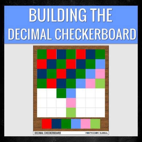 Montessori Digital Decimal Fraction Checkerboard | PowerPoint Presentations