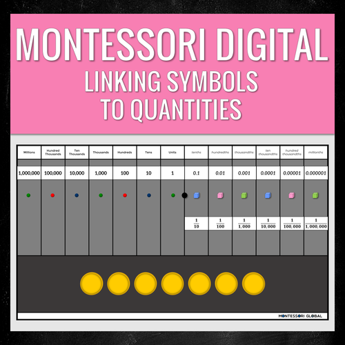 Montessori Digital Place Value in Decimal Fractions | PowerPoint Presentations