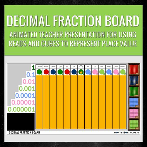 Montessori Digital Decimal Fraction Board | Distance Learning | PowerPoint Presentations