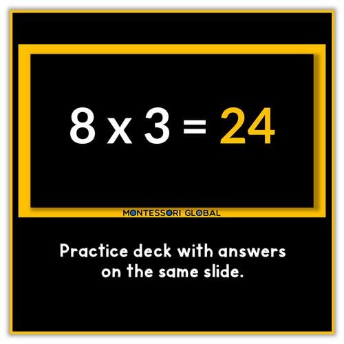 Montessori | Multiplication Fact Fluency PowerPoint Presentations | x 1 to x 12