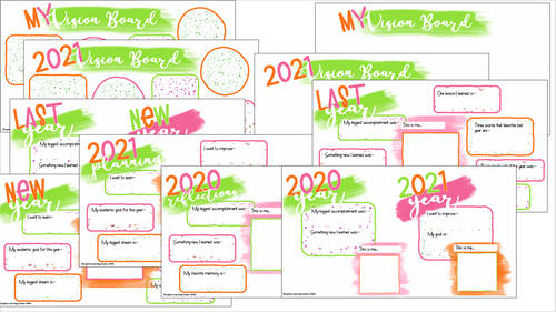 New Year Goal Setting and Reflection for Students and Children