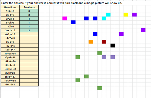 Mardi Gras Solving Two Step Equations Pixel Art Activity