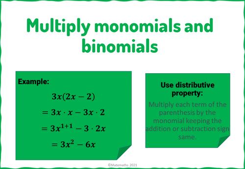FREEBIE Multiplying Monomials and Binomials Digital Maze