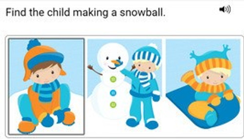 Post-Noun Elaboration: Winter Find It - Boom Cards™