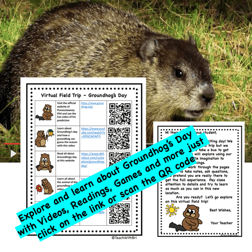 Virtual Field Trip - Groundhog's Day - PDF Version