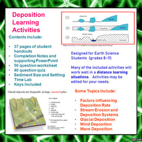 Deposition Learning Activities (Distance Learning)