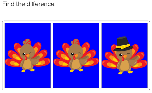 Find the Difference: Autumn Animals Boom Cards™