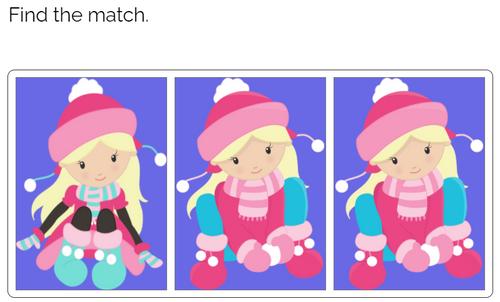 Matching: Winter Kids Theme Boom Cards™