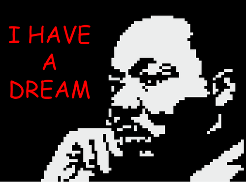 Multiplying Binomials Martin Luther King Jr. Pixel Art Mystery Picture EDITABLE