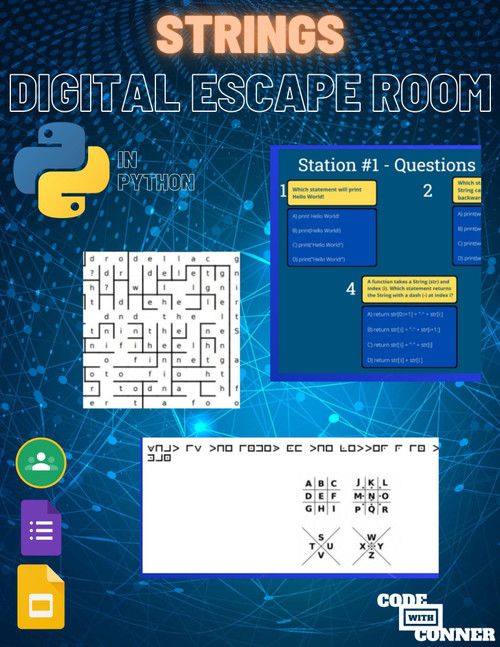 Coding Digital Escape Room - Strings in Python