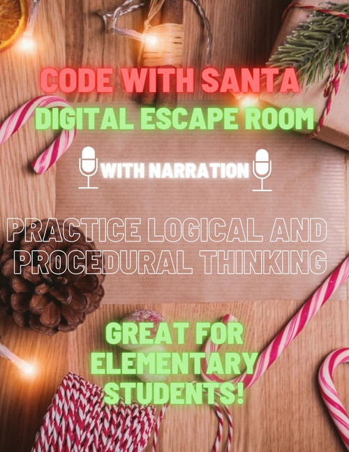 Code With Santa - An Elementary Digital Escape Room (No coding knowledge needed)