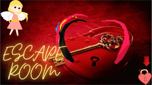 Valentine's Day DIGITAL Math Escape Room - Solving Multi Step Equations EDITABLE