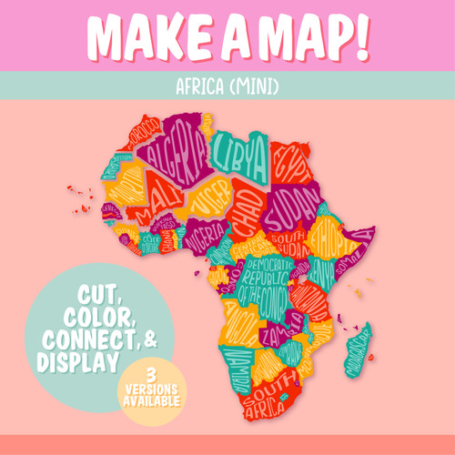 Africa Map-Making Activity   Africa Geography