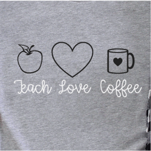 """Teach Love Coffee"" SHIRT OF THE MONTH"