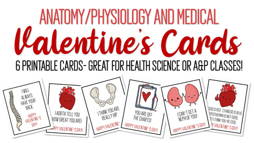 FREE! Printable A&P/Medical Valentine's Cards