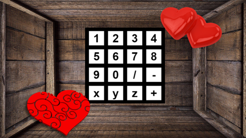 Valentine's Day Escape Room Multiplication, Division, Addition, and Subtraction