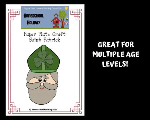 Saint Patrick Paper Plate Craft for St. Patrick's Day or Saint Study
