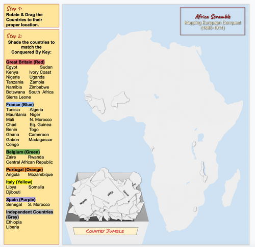 Africa Map (Without Borders)