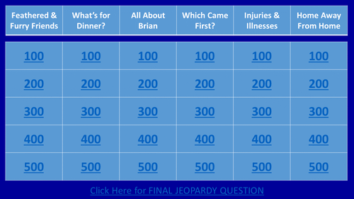 Gary Paulsen's Hatchet Jeopardy