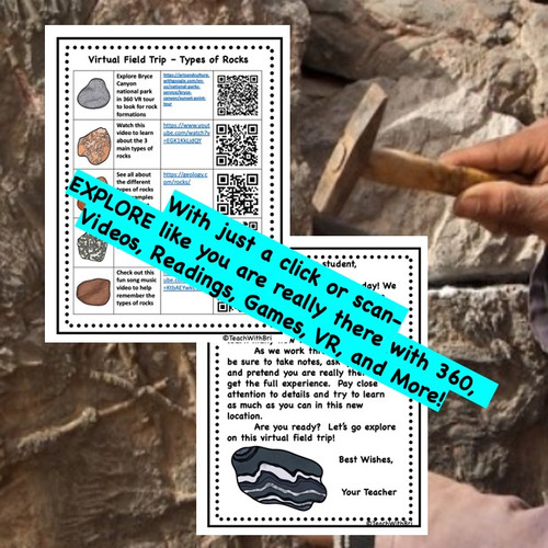FREE: Fossils - Rock Cycle-  Virtual Field Trip - Google Classroom Version