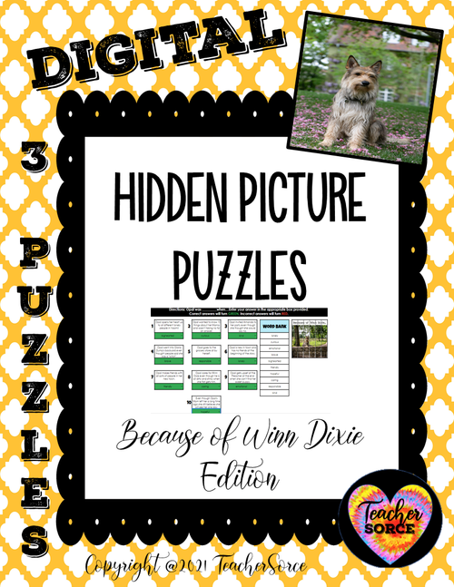 Hidden Mystery Picture Puzzles: Because of Winn Dixie Edition 3 Games