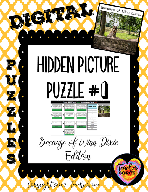 Hidden Mystery Picture Puzzles: Because of Winn Dixie Edition Character Trait Puzzle