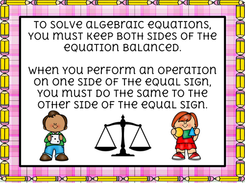 One-Step Equations - Addition and Subtraction