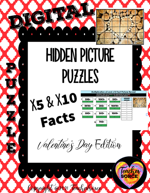 Hidden Mystery Picture Puzzle: Valentine's Day Edition x5 x10