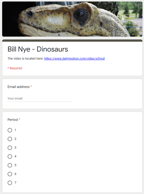 Bill Nye - Dinosaurs (Great sub plans or distance learning!)