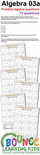 Algebra 3a preview
