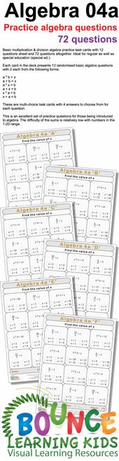 Algebra 4a preview