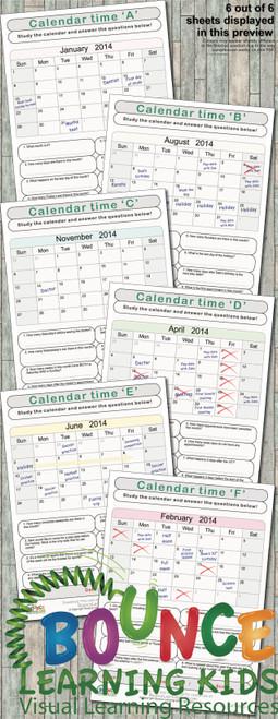 Calendar time preview