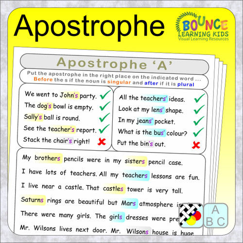 Apostrophe - when to use it in a sentence cover