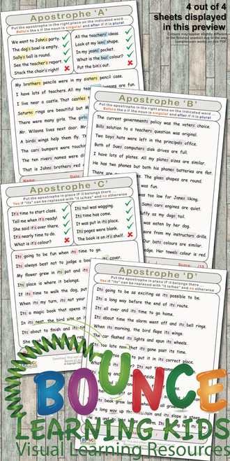 Apostrophe - when to use it in a sentence preview