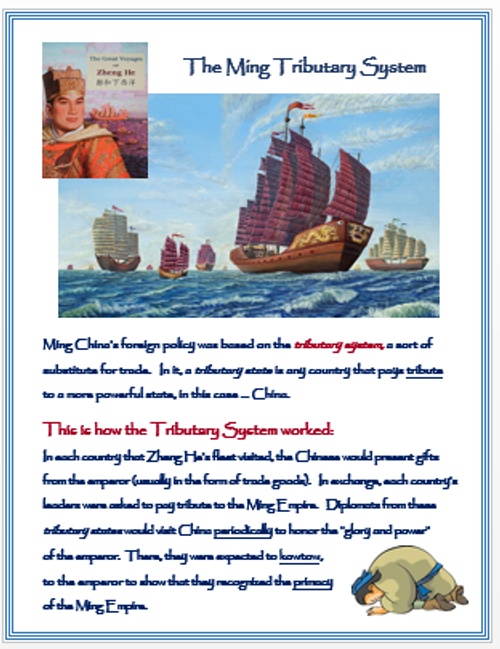 Ming China - Zheng He's Sea Voyages + Assessments