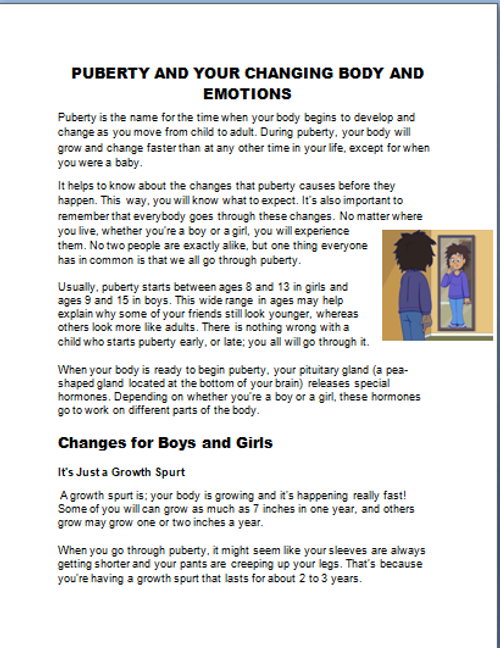Puberty- Your Changing Body and Emotions
