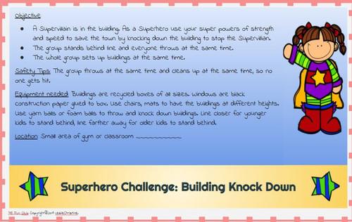 Superhero Stations - PE Class, Field Day, Summer Camp