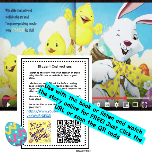 FREE-  How to Catch the Easter Bunny - Spring  Read Aloud Activity Pack  (Digital Ready Version)
