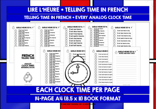 FRENCH TELLING TIME REFERENCE BOOK