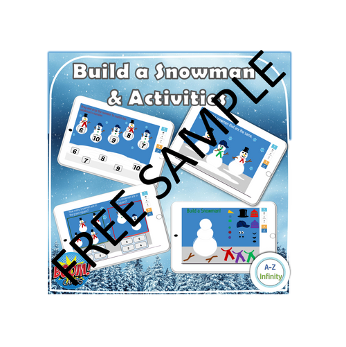 Build a Snowman and Activities (Boom Cards) FREE