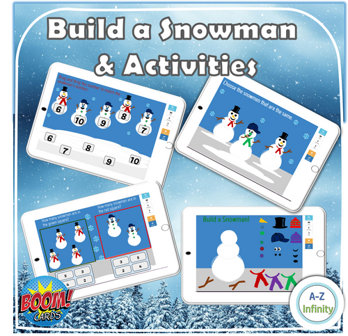 Build a Snowman and Activities (Boom Cards)