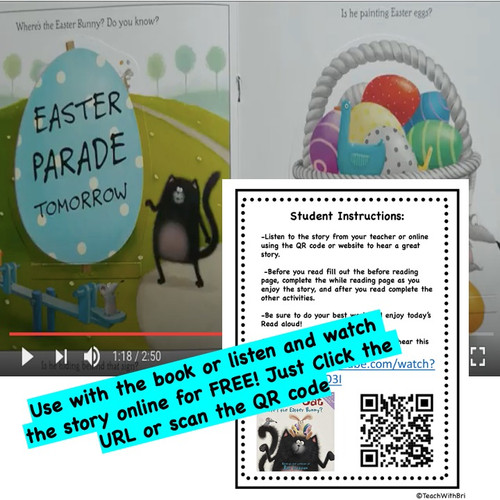 Splat the Cat Where's the Easter Bunny - Spring  Read Aloud Activity Pack  (Printable Version)