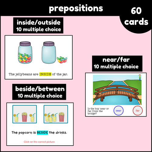Prepositions For Kids Boom Cards digital resources for distance learning