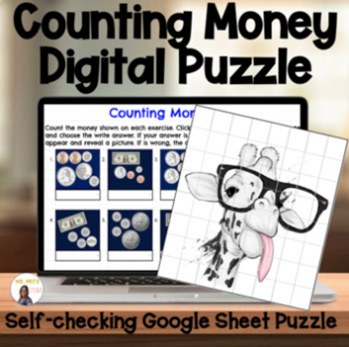 Counting Money- Digital Self Grading Puzzle