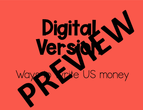 Writing Money Amounts-Digital and Printable Puzzle