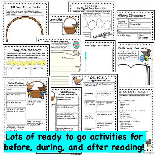 The Biggest Easter Basket Ever- Spring  Read Aloud Activity Pack  (Printable Version)